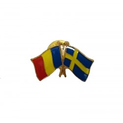 Insigna Drapel Romaniei Drapel Suedia