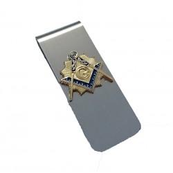 Clips pentru bani cu simbol masonic auriu MM464