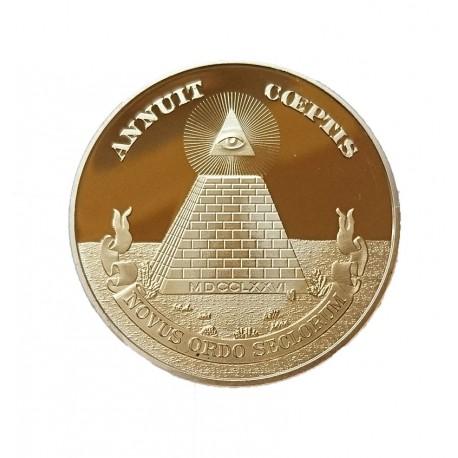 Medalie Masonica ANNUIT COEPTIS