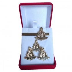Set 3 bijuterii masonice - Maestru Venerabil